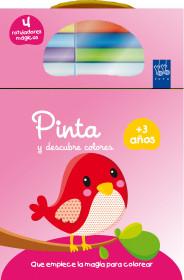 Pinta y descubre colores +3. Pájaro
