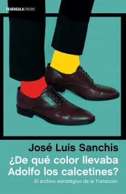 ¿De qué color llevaba Adolfo los calcetines?